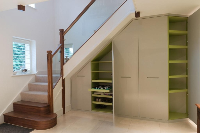 Wardrobe Under The Stairs With Their Own Hands