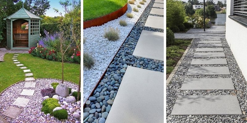 How To Make Garden Paths From Wood Stone Gravel Think Different