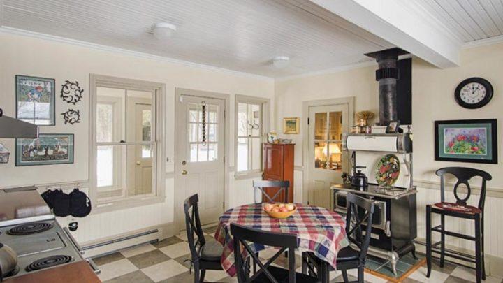 Kitchen Interior With Checkered Patterns