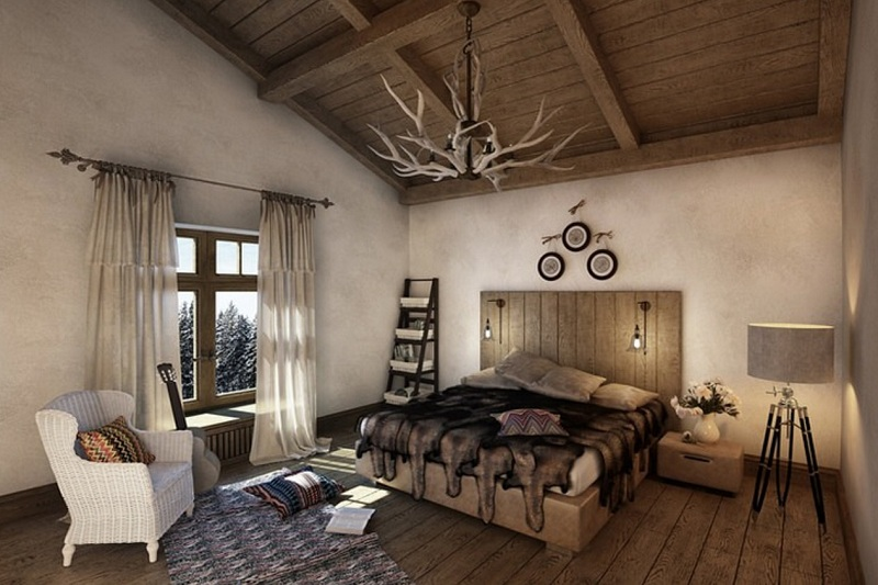 Chalet Style In The Interior Of Apartments And Houses