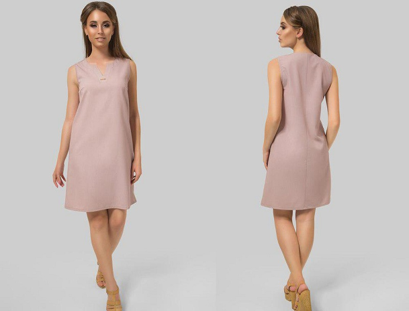 Dress Straight Silhouette In A Female Wardrobe