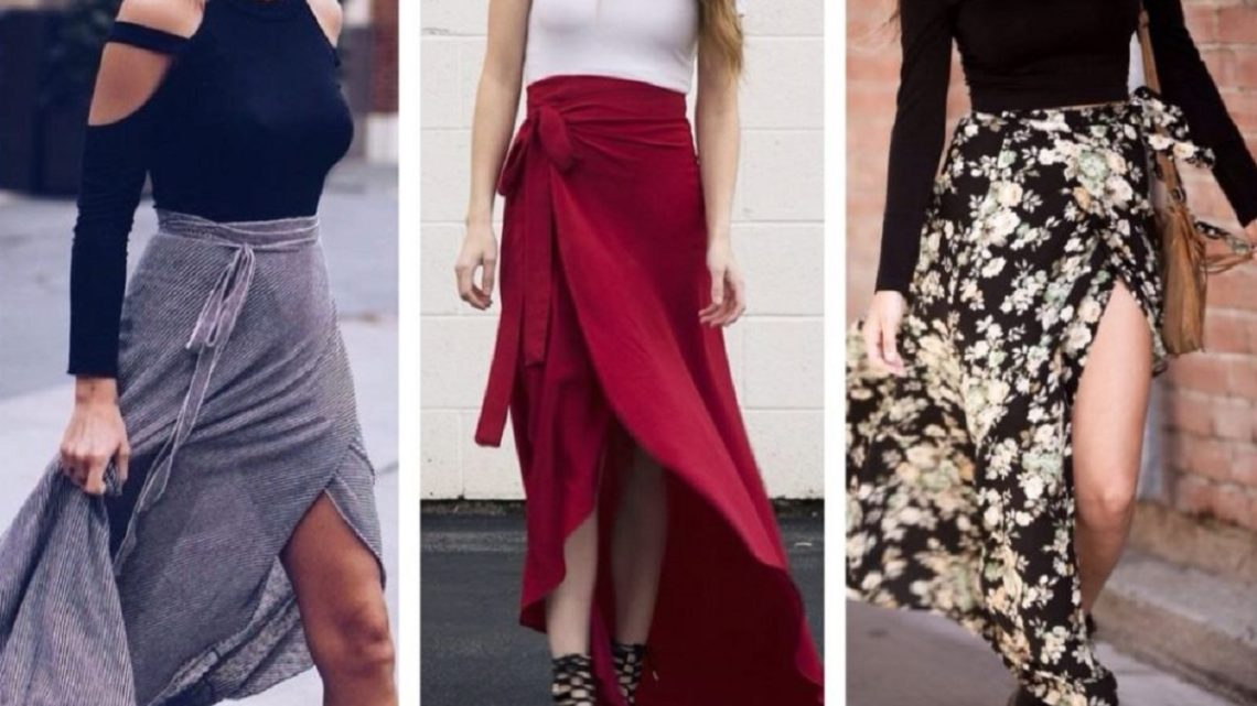 Sewing Pattern Of Asymmetric Wrap Skirt Think Different