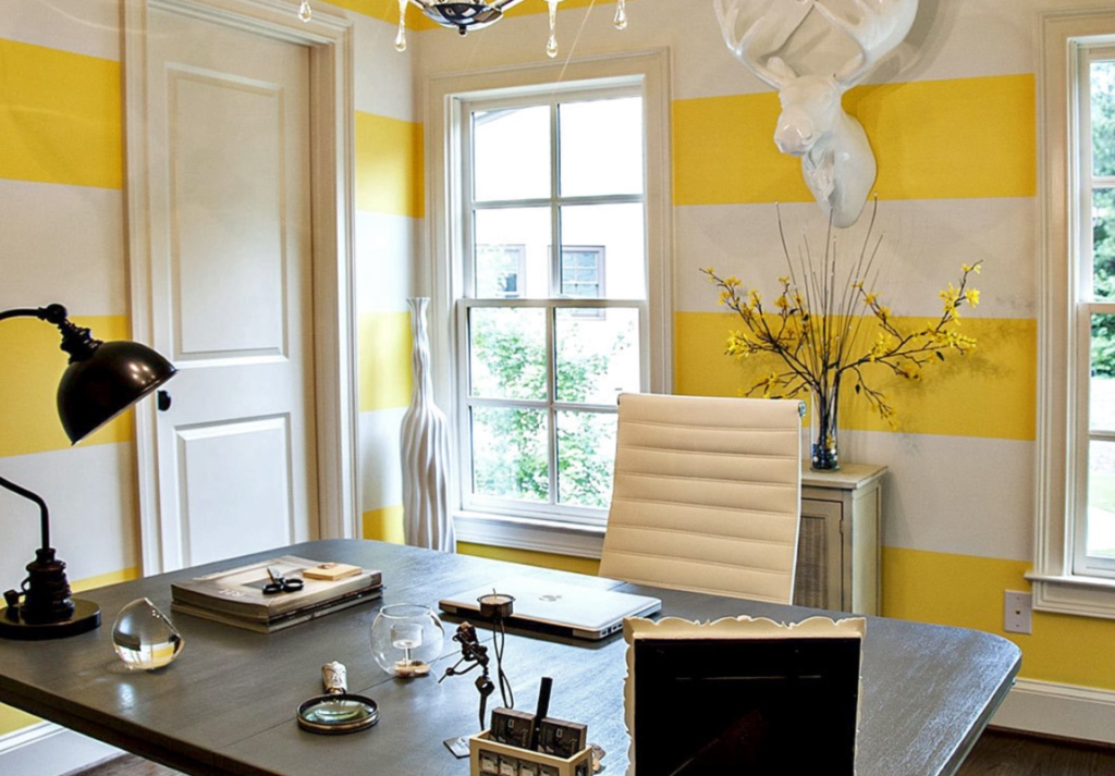 Yellow Color In The Interior Of The Apartment